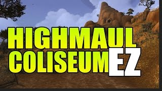 getlinkyoutube.com-Highmaul Coliseum - Funny Strategy! How I got my Lord of War title