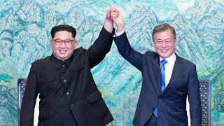 North and South Korea agree to work toward peace and denuclearization at summit width=