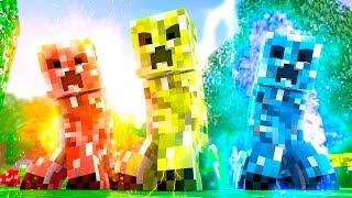 getlinkyoutube.com-Minecraft: CREEPERS ELEMENTAIS! (100 Desafios)