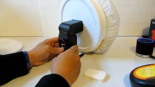 DIY: How to make a Softbox/Beauty Dish/ Ring Flash for $2