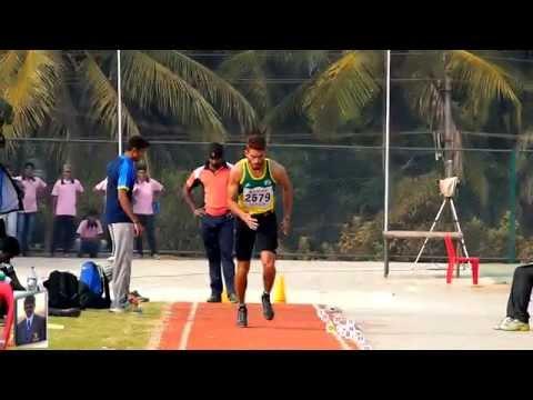 MEN'S LONG JUMP FINAL .ALL INDIA INTER UNIVERSITY ATHLETICS CHAMPIONSHIPS-2014-15
