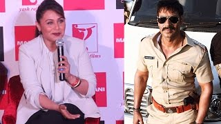 getlinkyoutube.com-Rani Mukherji Praise Ajay Devgan And Singham Return On Mardaani Event