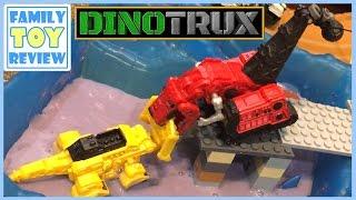 getlinkyoutube.com-DinoTrux Toys Ty-Rux Meets Revvit - Tarpit Rescue Toy Story From S1 DinoTrux Episode 1 Ty and Revvit