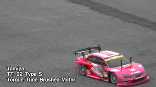 getlinkyoutube.com-Tamiya, TT02 brushed vs brushless motor