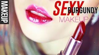 getlinkyoutube.com-Sexy Burgundy Holiday Makeup 섹시 버건디 메이크업