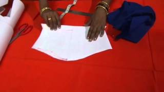 getlinkyoutube.com-Blouse Cutting with Paper Using Stitched Blouse in Telugu Part 1