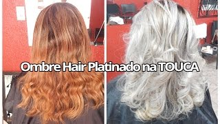 getlinkyoutube.com-Ombre Hair Platinado na TOUCA (com xuxinhas)