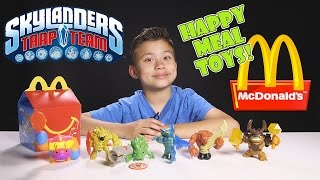 getlinkyoutube.com-Skylanders Trap Team HAPPY MEAL TOYS! Complete Collection guest starring LEGO Minifigures!