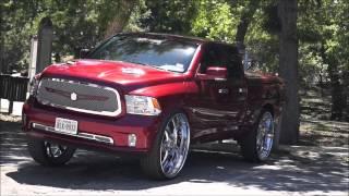 getlinkyoutube.com-Dodge Ram on 32s engraved asanti wheels  with air bags