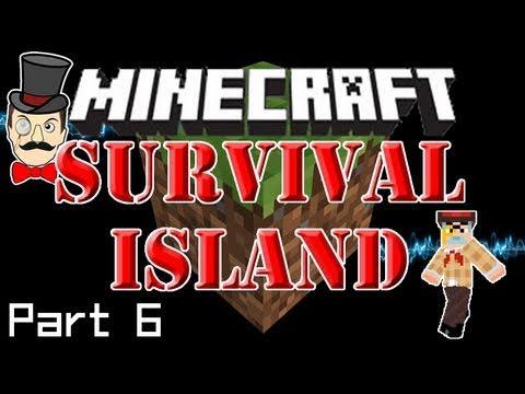 Minecraft: SURVIVAL ISLAND - Down on the Farm! Sheep, Grass & Seeds! (Part 6)
