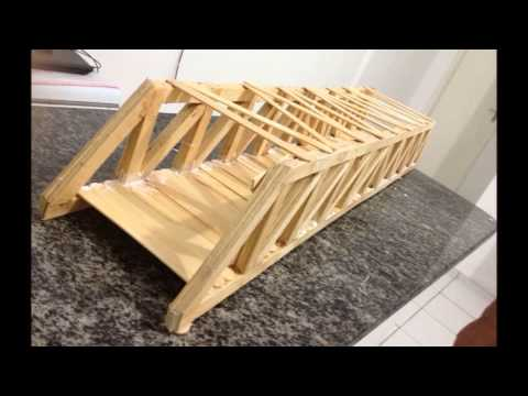 Ponte de palito de picolé aguentou 100kg