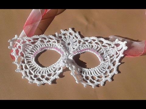 mascara a crochet carnavales  paso a paso