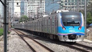 getlinkyoutube.com-【ソウル首都圏電鉄】1号線 KORAIL京釜電鉄線 普通西東灘行 龍山 S.Korea Seoul Metropolitan Subway Line 1 Trains