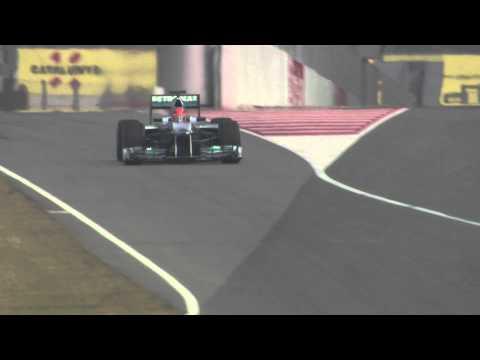 F1 2012 - Mercedes AMG F1 W03 - Schumacher & Rosberg on track (Barcelona)