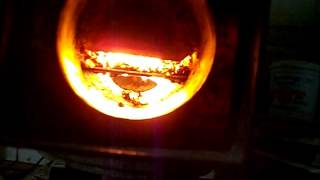 getlinkyoutube.com-Rocket Stove pellet burner Test #1