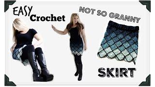 getlinkyoutube.com-Easy Crochet Ombre Granny pencil  Skirt