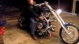 getlinkyoutube.com-Cold-Starting The Radial Engine Motorcycle JRL Cycles Prototype