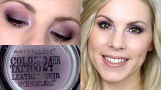 getlinkyoutube.com-Eyeshadow Tutorial | Vintage Plum Maybelline Color Tattoo
