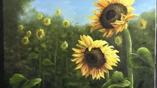 getlinkyoutube.com-Paint with Kevin Hill - Field of Sunflowers