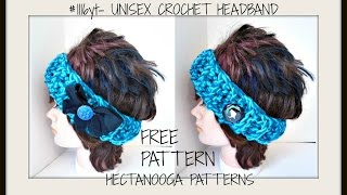 getlinkyoutube.com-Free CROCHET  Pattern, Easy Beginner Unisex Headband, #1116yt  Easy Fabric bow