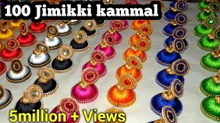 100 Jimikki Kammal / How to make Jimikki kammal at home   Hand craft jewelry factory