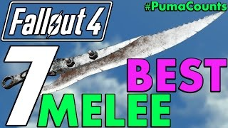 Top 7 Best Melee Weapons in Fallout 4 (Including DLC and Survival) #PumaCounts