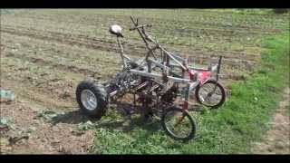 getlinkyoutube.com-Culticycle with star hoes, flextines and sweeper weeder