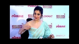 Raai Laxmi Show Hot Cleavage in new fashionable dress...