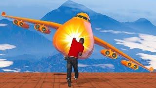 getlinkyoutube.com-SUPER HUMANS vs. PLANES! (GTA 5 Funny Moments)