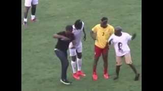 getlinkyoutube.com-Gasmilla and Asamoah Gyan dance to Telemo at Appiah Farewell Match