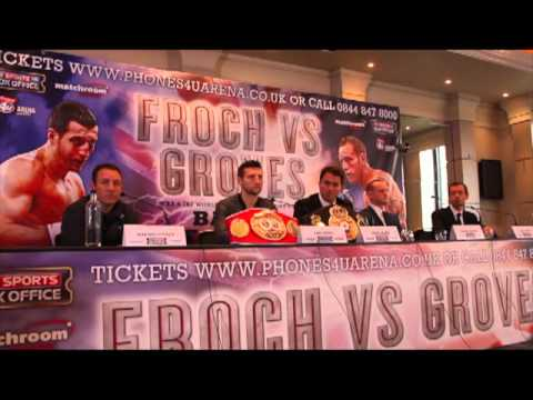 CARL FROCH v GEORGE GROVES - FULL PRESS CONFERENCE IN MANCHESTER / NOVEMBER  2013