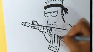 getlinkyoutube.com-cómo dibujar a Bart Simpsons (Rambo) Graffiti - | ZaXx