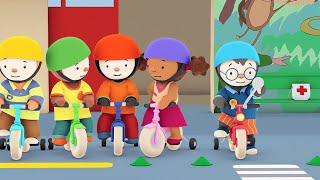 getlinkyoutube.com-T'choupi à l'école - Le vélo rouge tout neuf (EP.5)