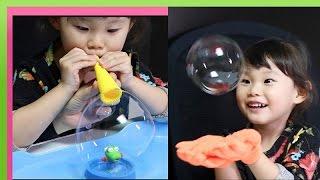 getlinkyoutube.com-마법의 비눗방울 저글 버블 뽀로로 장난감을 가지고 놀이하는 라임튜브 LimeTube & Toys