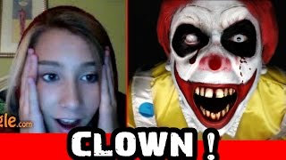Creepy Clown Scare on Omegle Prank!