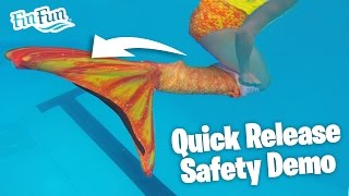 getlinkyoutube.com-Fin Fun Mermaid Tail Quick Release Safety Method