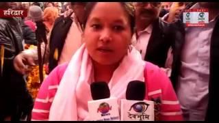 मुख्यमंत्री की सुपुत्री अनुपमा रावत ने चलाया चुनावी सभाओ का अभियान ,उमडी भीड