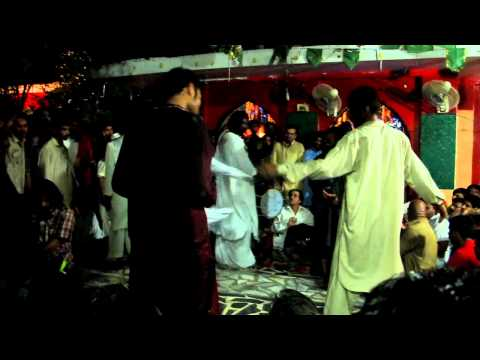Sufi dancing at the shrine of Baba Shah Jamal