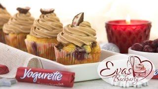 getlinkyoutube.com-Yogurette-Cupcake / Cupcakes Yogurette Limited Edition Sauerkirsche, Marzipan / Backen evasbackparty