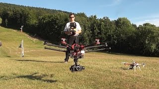 getlinkyoutube.com-Comparatif 2 drones DJI - F450 H4-3D GoPro Hero 4 vs S900 Z15 GH4