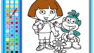 getlinkyoutube.com-Dora The Explorer Painting Games - Painting Games For Kids