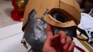 getlinkyoutube.com-#17: Captain America Cowl DIY 1/3 - Cardboard & Hot Glue (template) | How To | Dali DIY