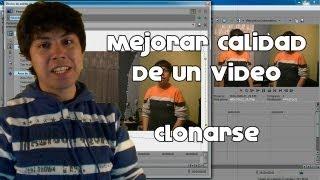 getlinkyoutube.com-Mejorar calidad de un video + Como Clonarse (Sony Vegas Pro 11)