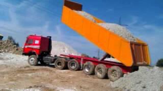 getlinkyoutube.com-Tamiya Mercedes SK 17kg Sand! Schon wieder Crash beim kippen