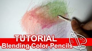 getlinkyoutube.com-Tutorial: Blending Colored Pencils w Alcohol