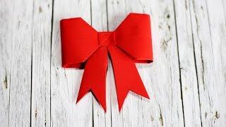 How to fold a Paper bow - Origami - วิธีพับกระดาษรูปโบว์