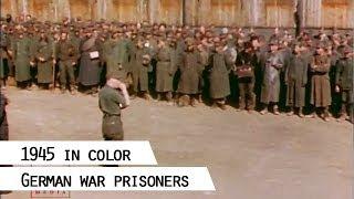 getlinkyoutube.com-German war prisoners, 1945 (in color)
