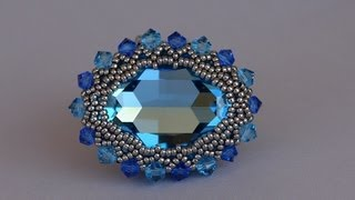 getlinkyoutube.com-Sidonia's handmade jewelry - 30x22mm Swarovski cabochon ring