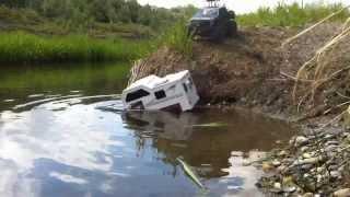 getlinkyoutube.com-RC CWR - axial camper water run