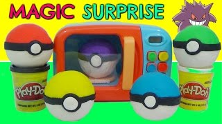 getlinkyoutube.com-Learn Colors with POKEMON GO Play-Doh SLIME Surprise TOYS and MAGIC MICROWAVE Cooking Playset